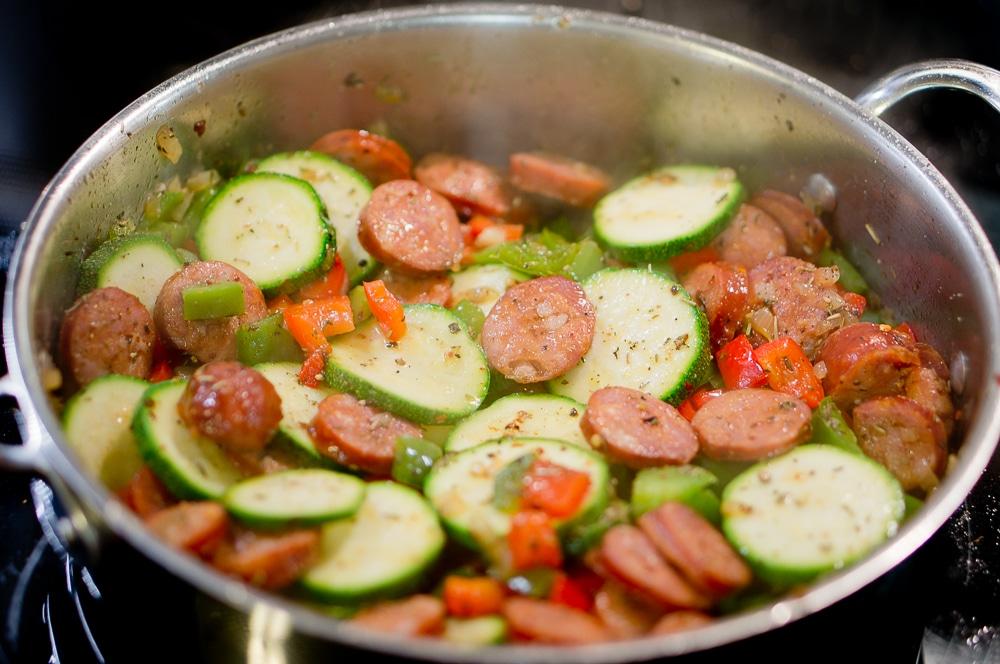 sausage and shrimp skillet-2