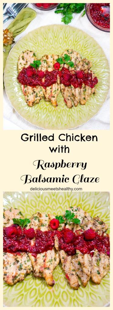 grilled chicken with raspberry balsamic glaze_