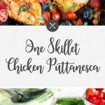One Skillet Chicken Puttanesca
