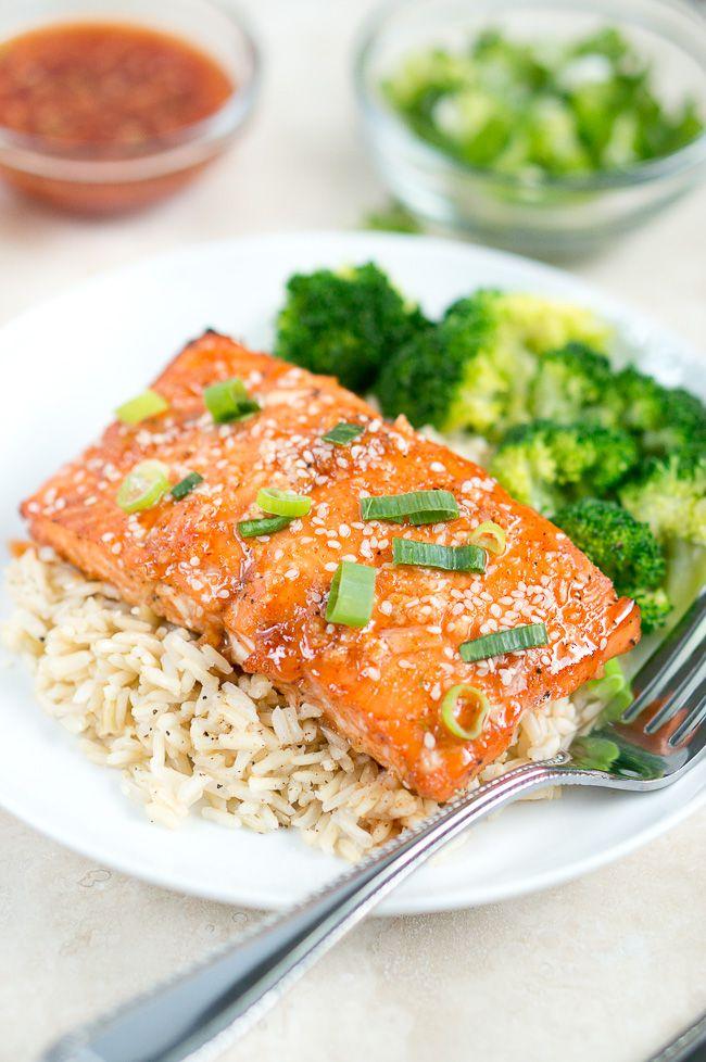 Honey Sriracha Salmon Delicious Meets Healthy