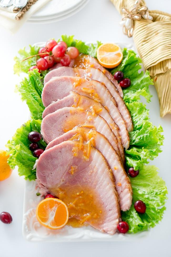 orange dijon glazed ham delicious meets healthy. Black Bedroom Furniture Sets. Home Design Ideas
