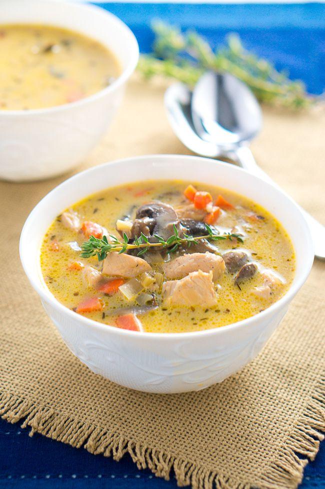 Creamy Chicken And Mushroom Soup Delicious Meets Healthy