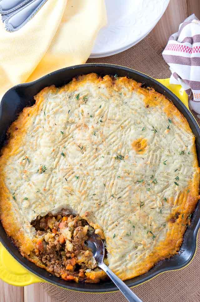 Easy Skillet Shepherd's Pie