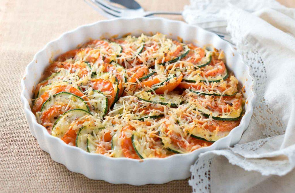 Parmesan Zucchini and Tomato Gratin-4