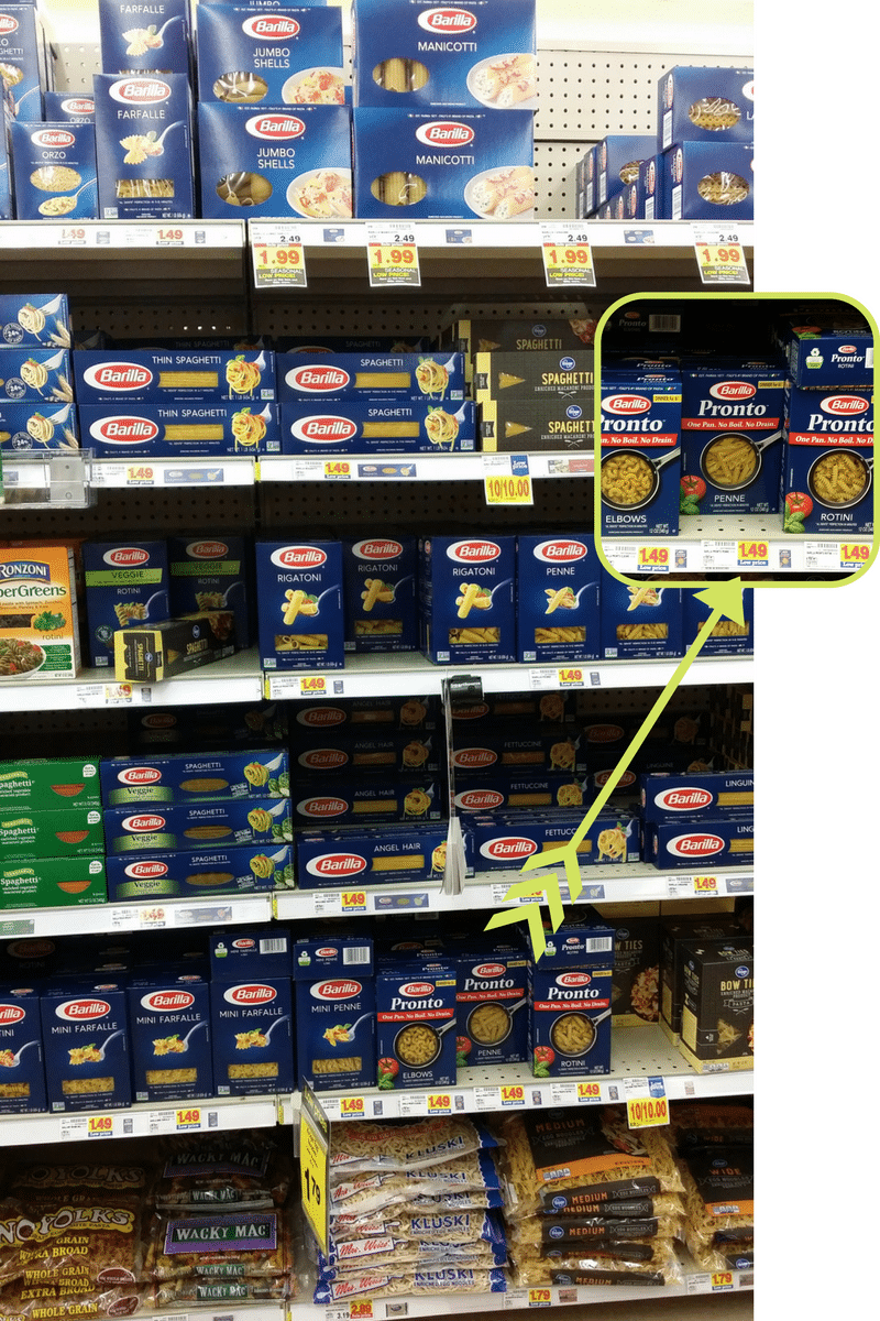Barilla Pasta display in store