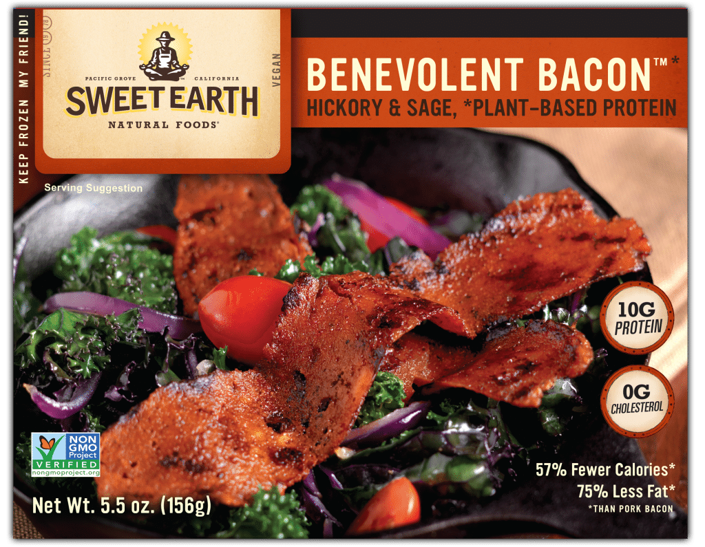 Plant based bacon from Sweet Earth