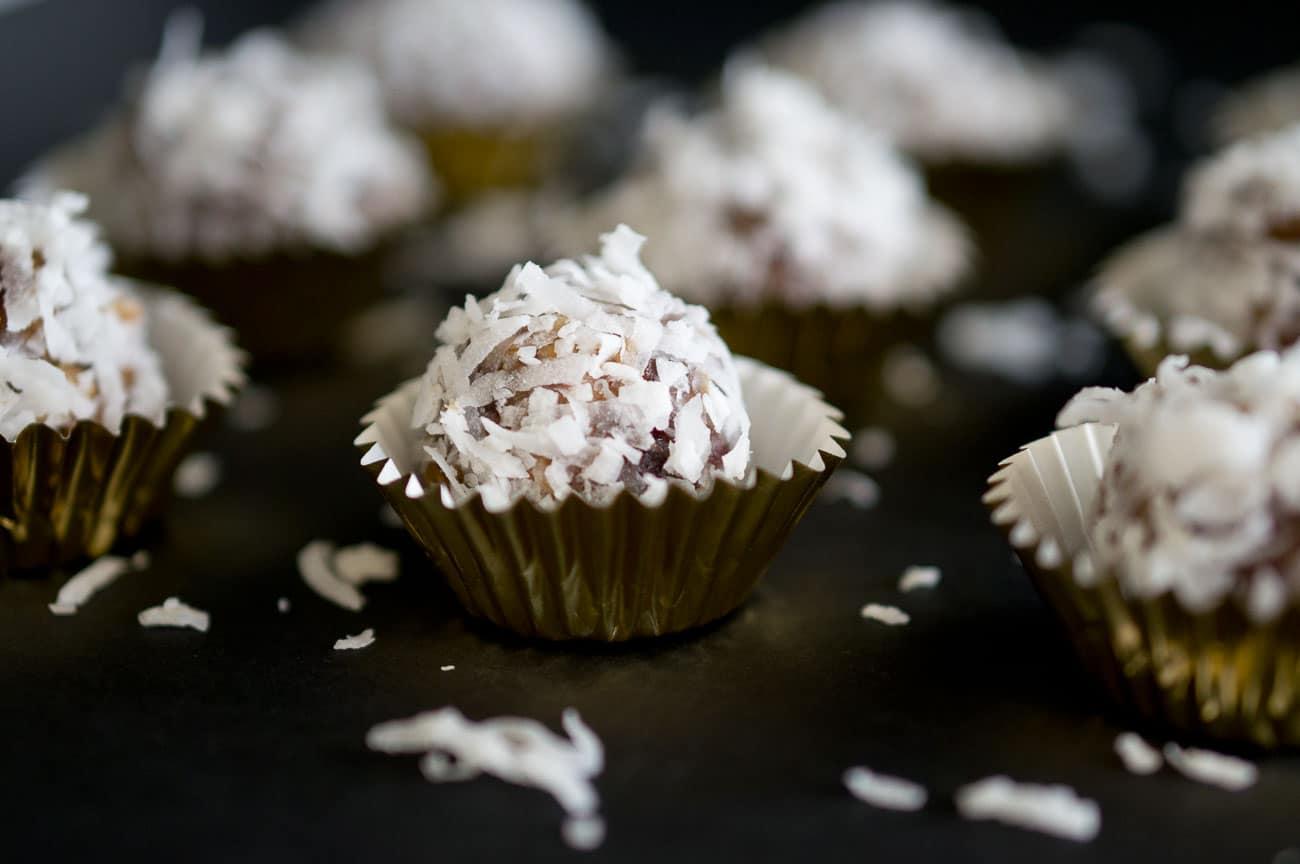 Healthy No Bake Coconut Date Bites