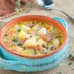 Instant Pot Ham and Potato Soup-1