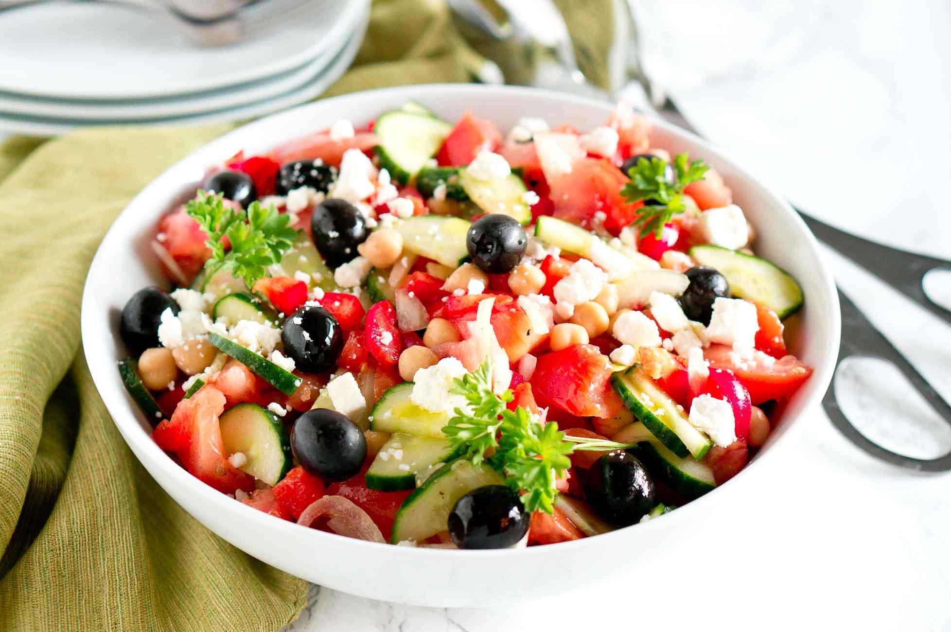 Greek Salad Recipe Low Calorie