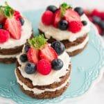 Patriotic Red White and Blue Mini Cakes