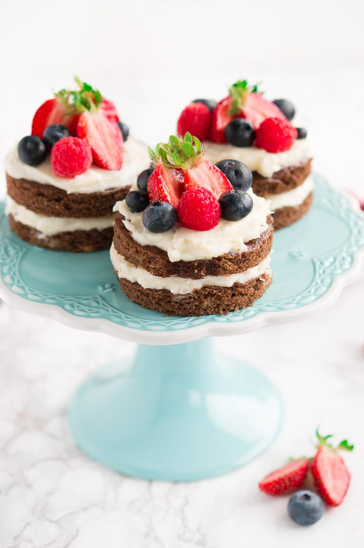 Red White Blue Mini Cakes