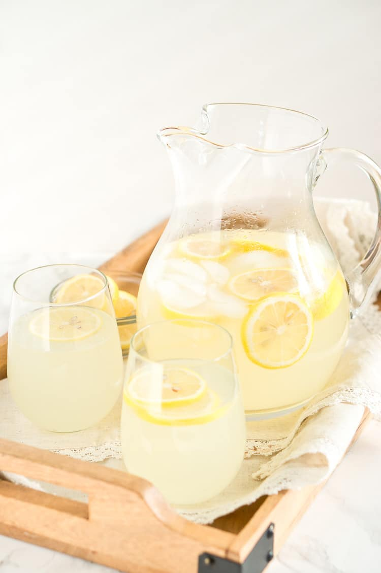 lemonade - with a pitcher and glasses