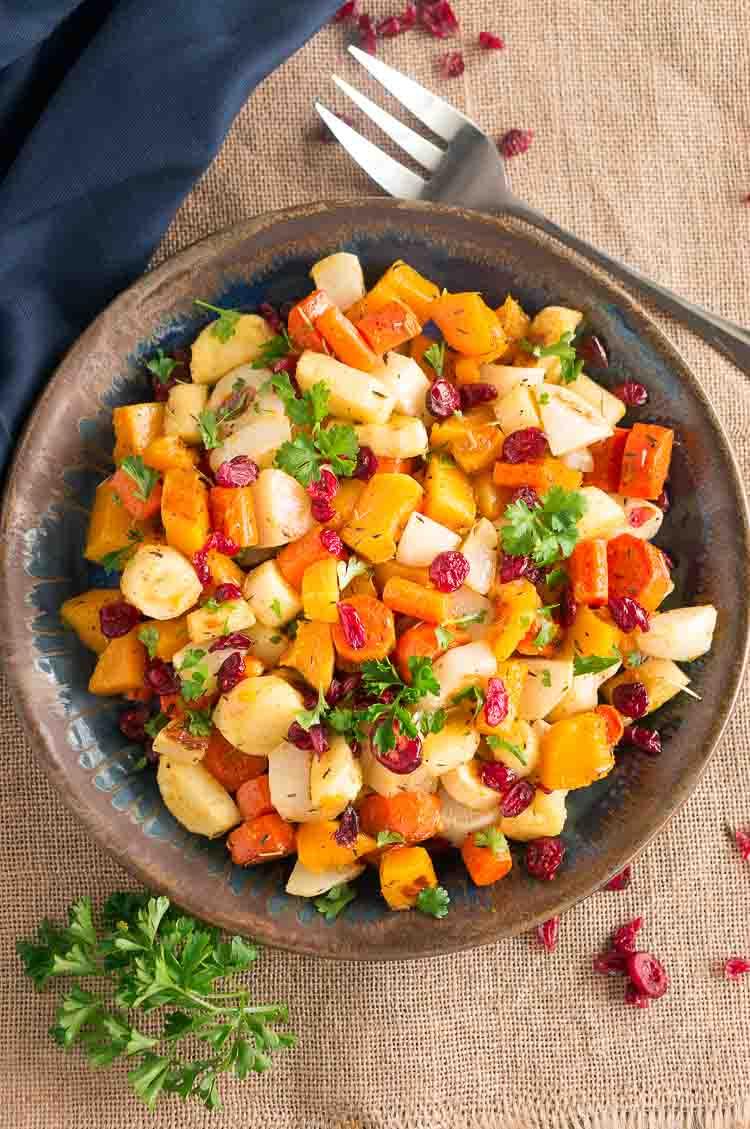 Thanksgiving roasted vegetables