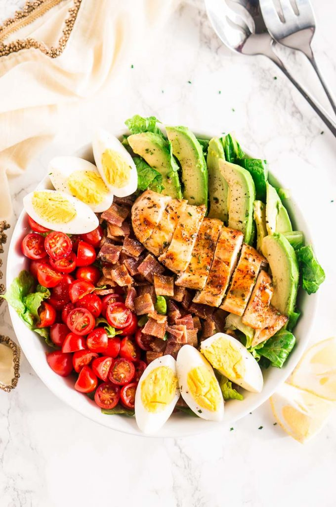 summer salad served in a bowl