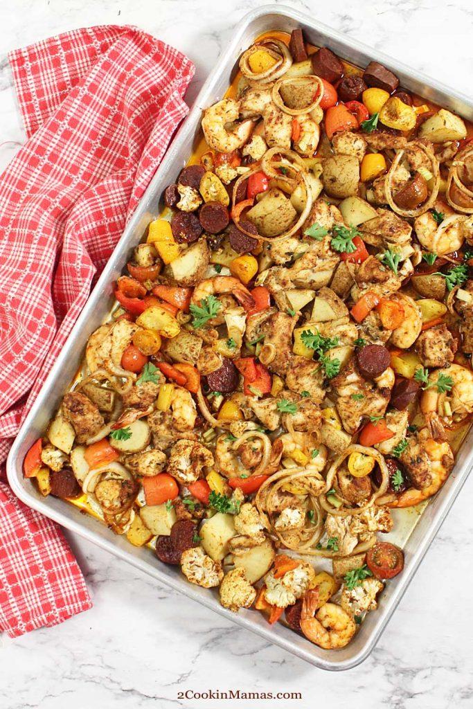 Cajun Mixed Grill Sheet Pan Dinner