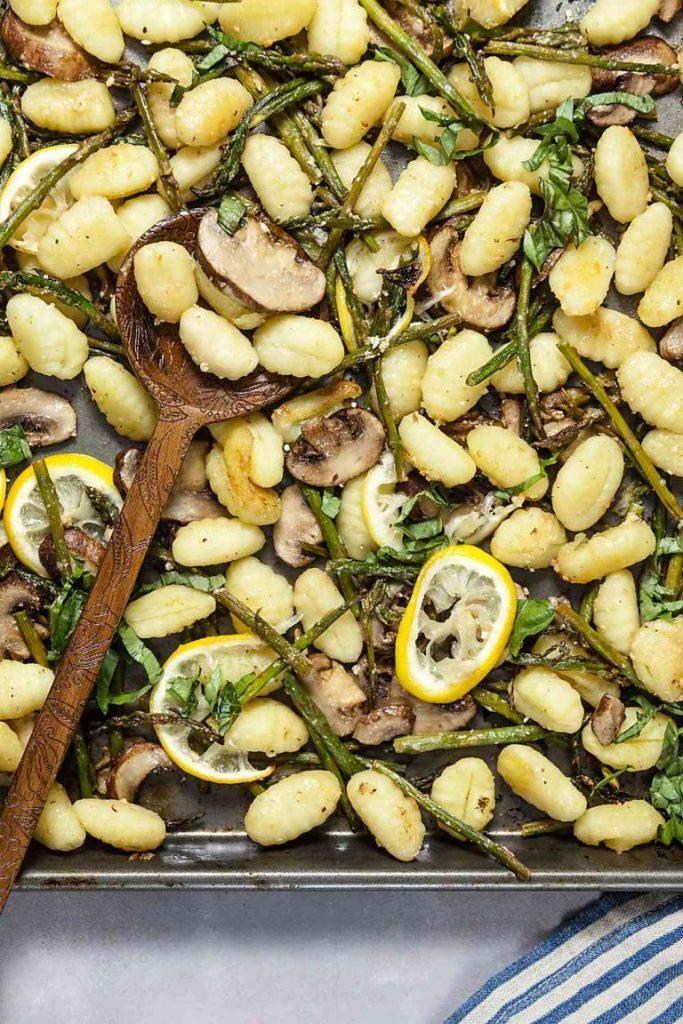 Sheet Pan Lemon Parmesan Gnocchi