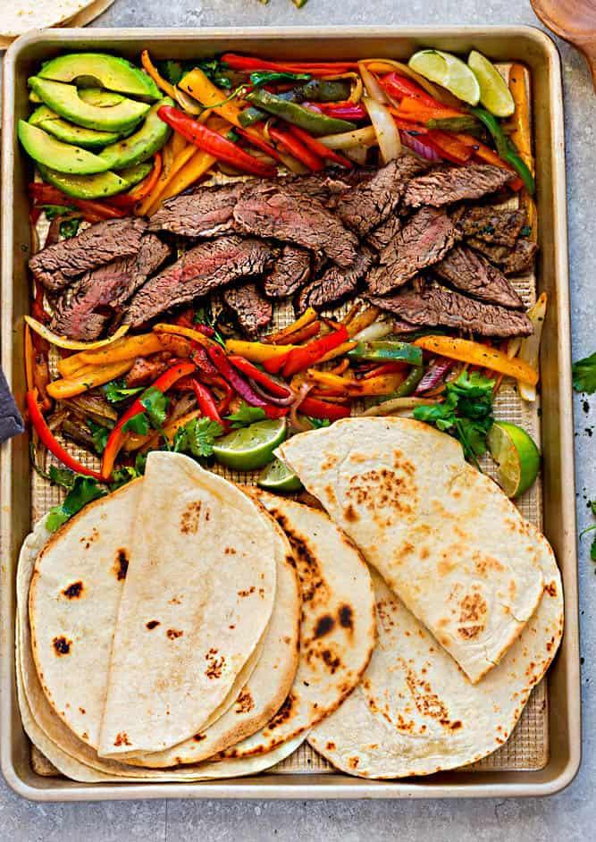 Sheet Pan Steak Fajitas - easy dinner recipe