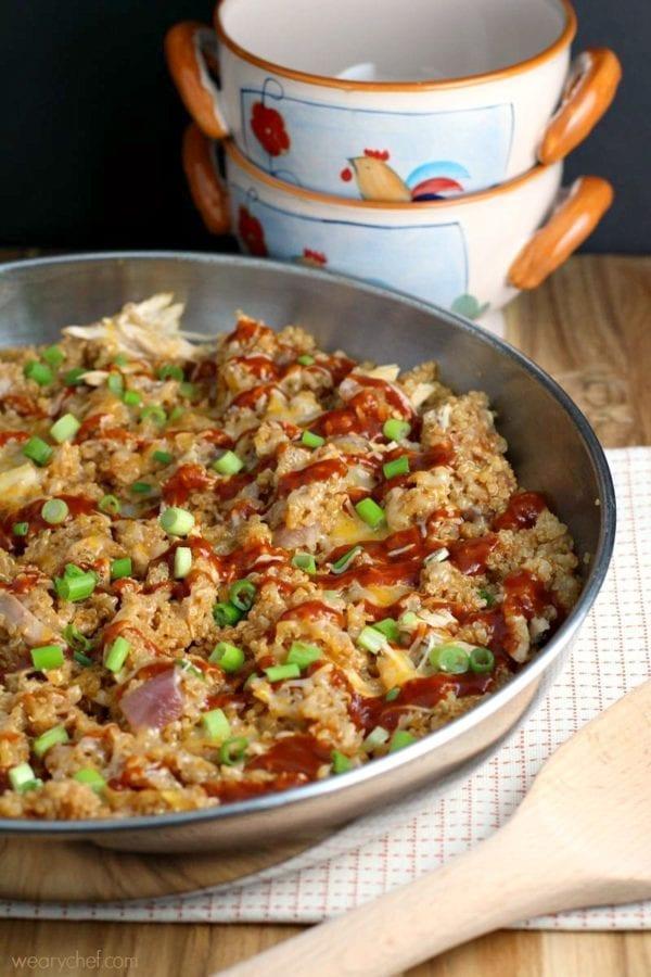bbq chicken skillet dinner