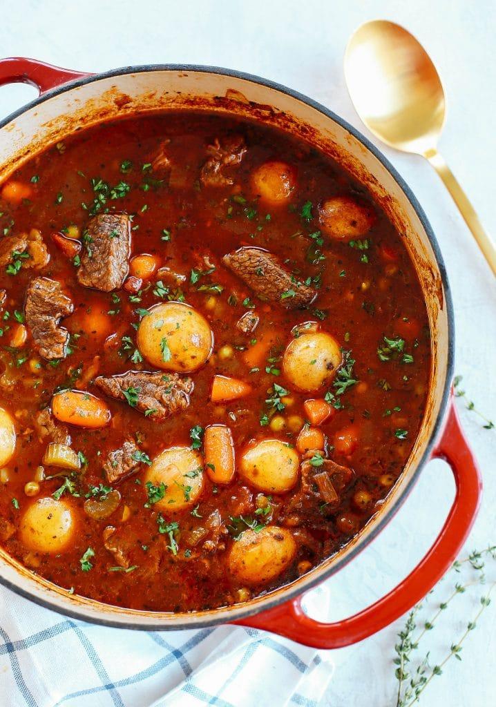 Instant Pot tomato beef stew