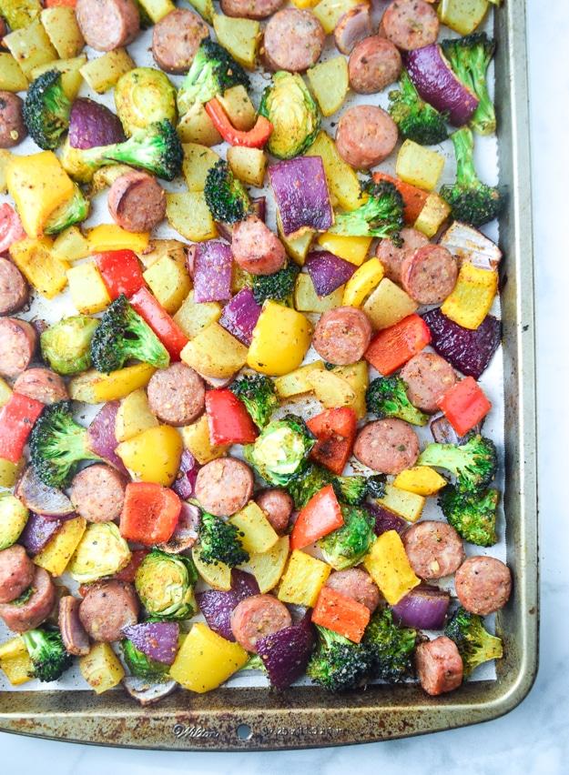 Sheet Pan with Sausage and Veggies
