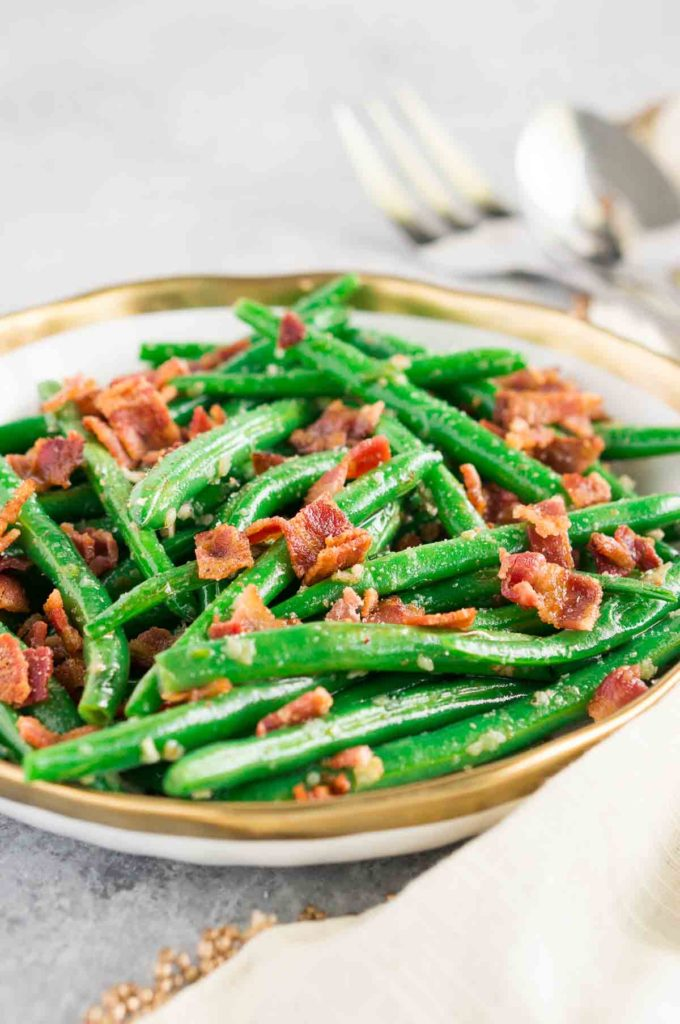 gralic green beans with bacon