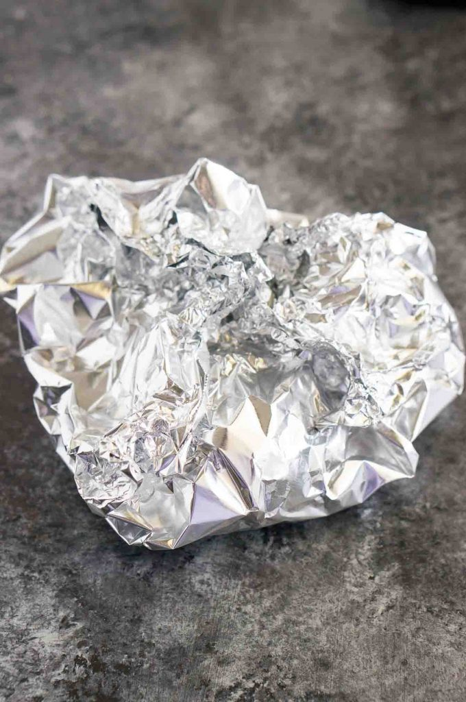 wrapped garlic in foil