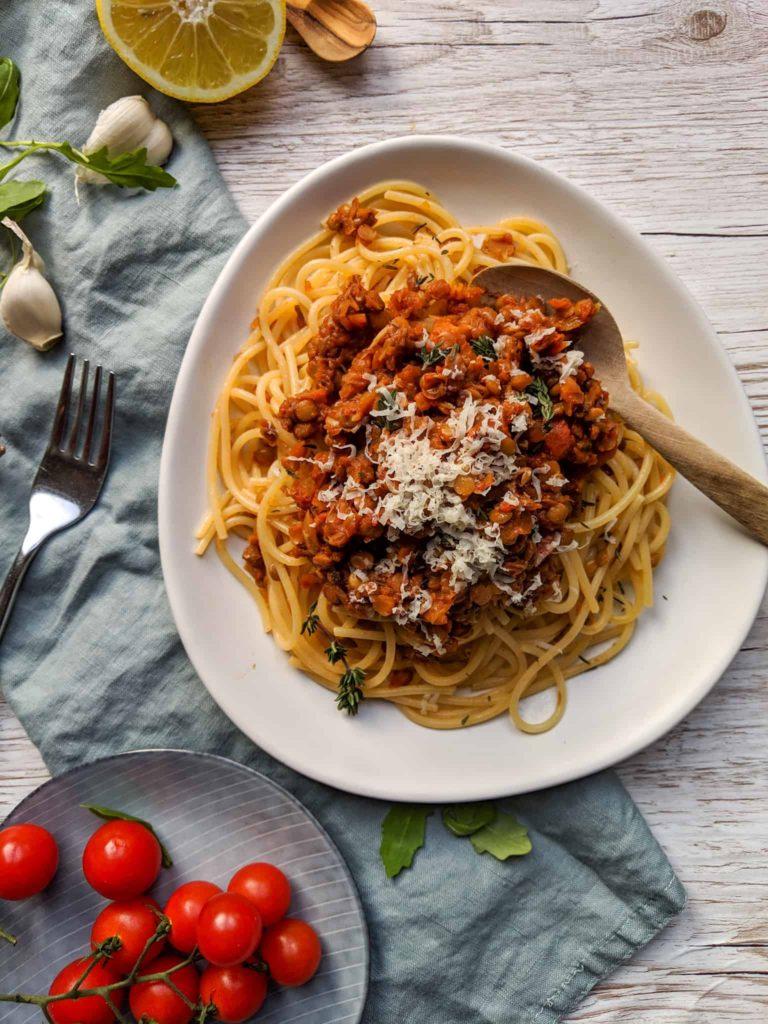 Lentil Spaghetti Bolognese - Meal Prep