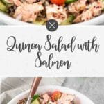 salmon salad with quinoa pin
