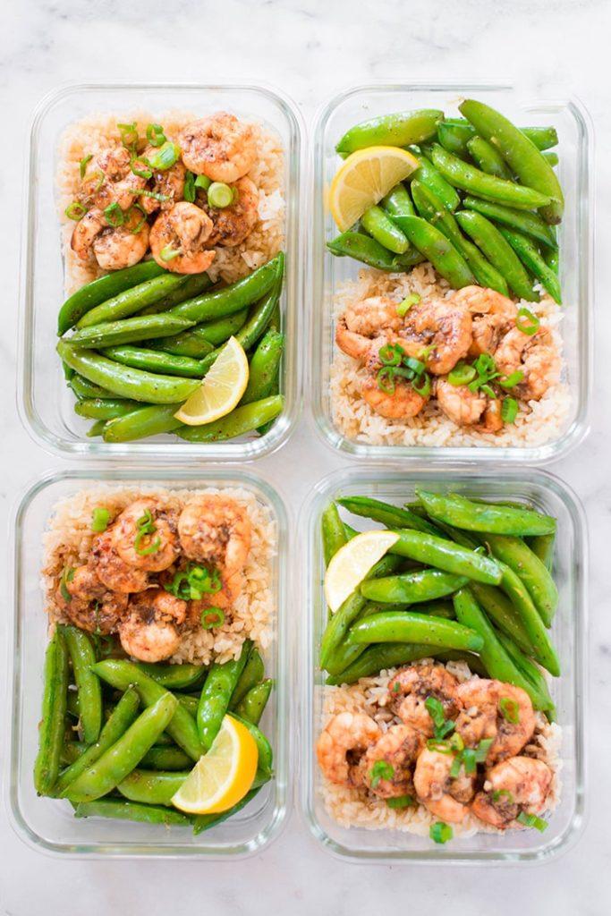 Honey Garlic Shrimp - meal plan