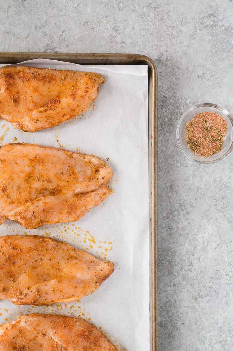 chicken breast in oven