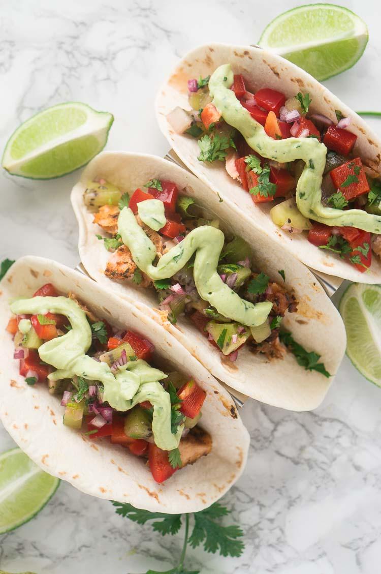 salmon fish tacos