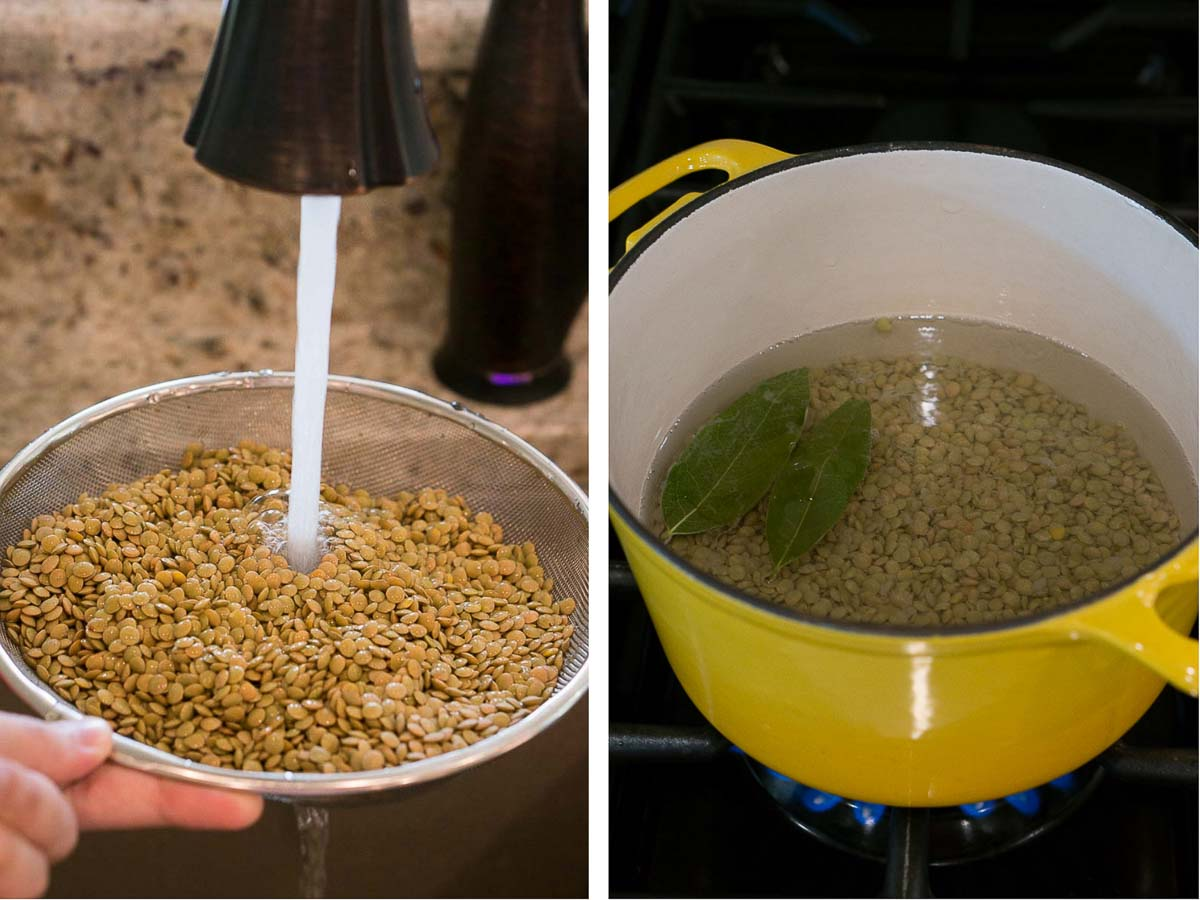 how to cook lentils - step by step instructions and shots