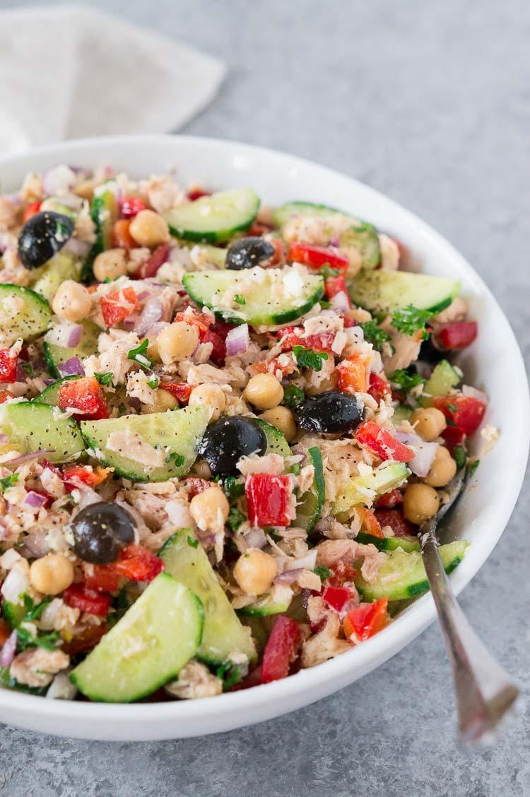 recipe for Mediterranean Tuna Salad