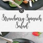 strawberry spinach salad - long pin