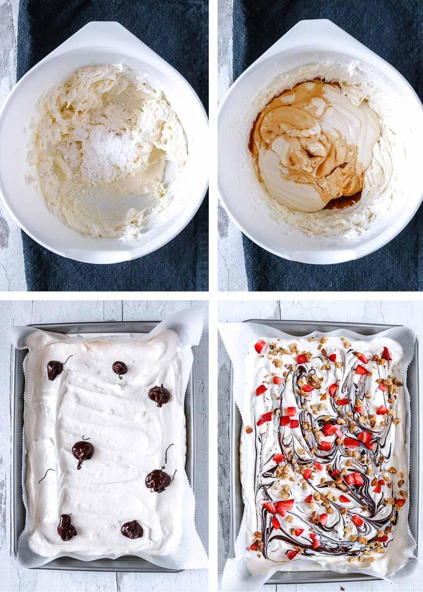 how to make yogurt bark - step by step shots