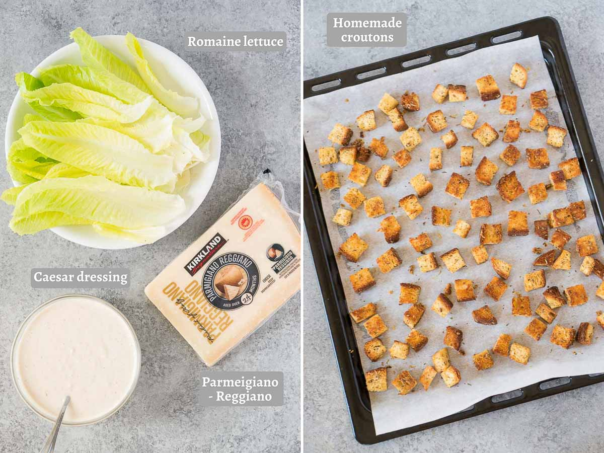 caesar salad ingredients - everything you need