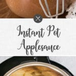 instant pot applesauce - long pin