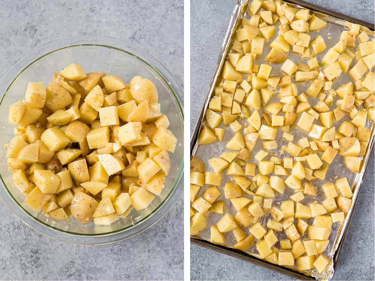 how to make roasted garlic potatoes