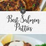 salmon patties - long pin