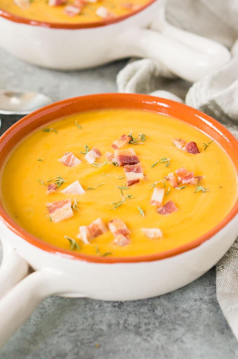 pressure cooker butternut squash apple soup