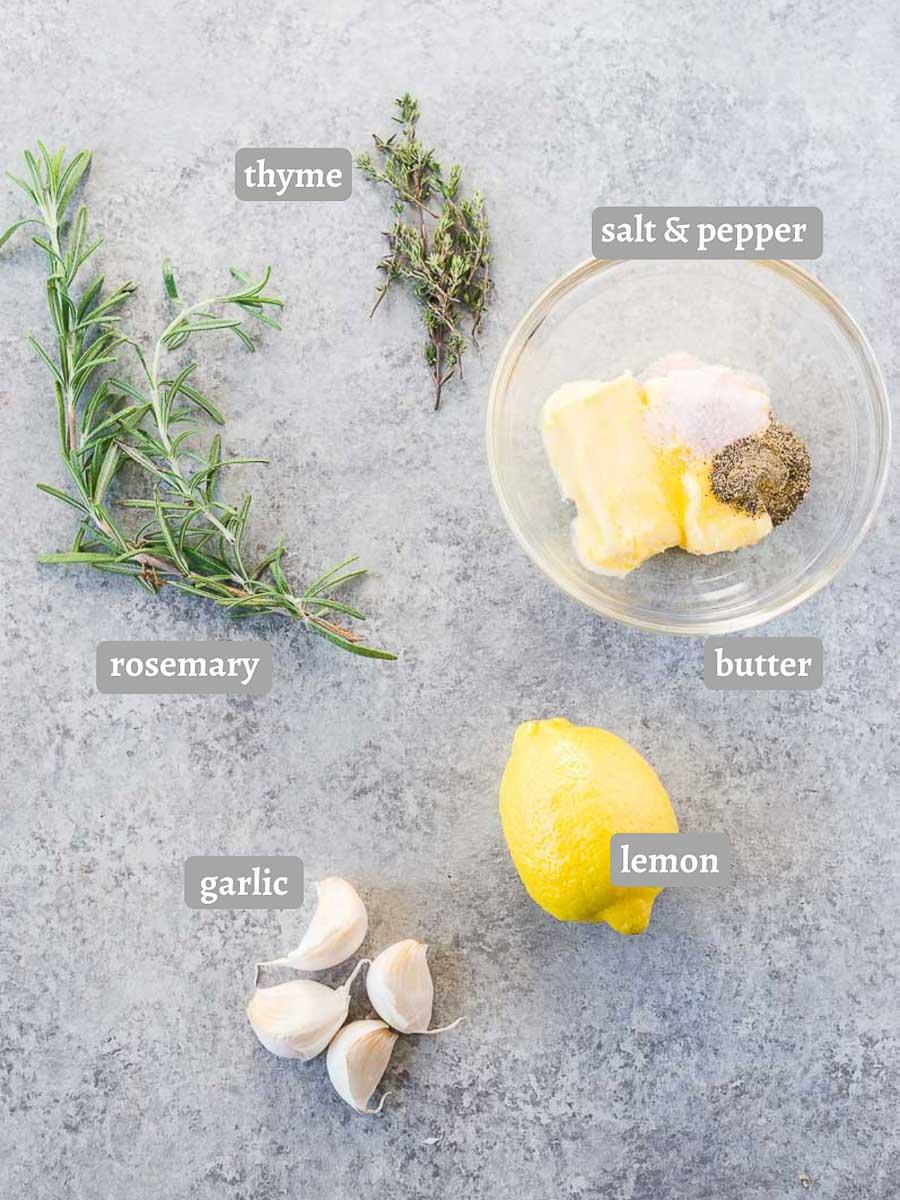 lemon garlic compound butter for roasted turkey