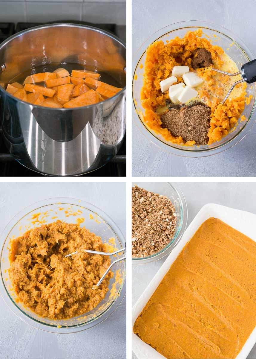 how to make sweet potato casserole