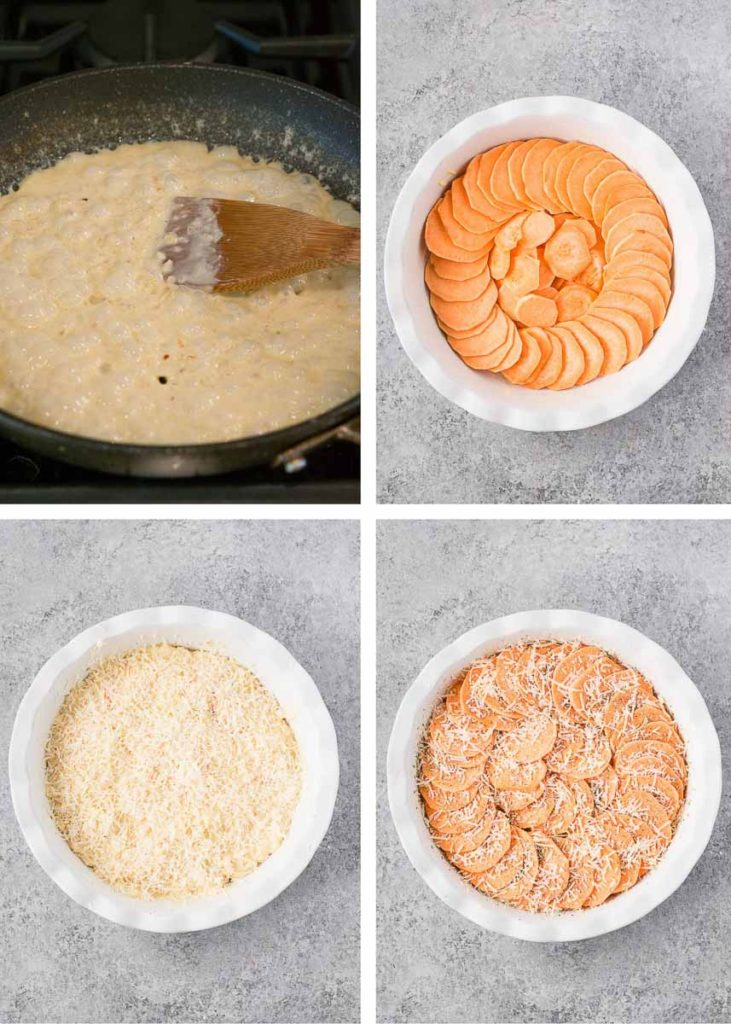 how to make sweet potato gratin