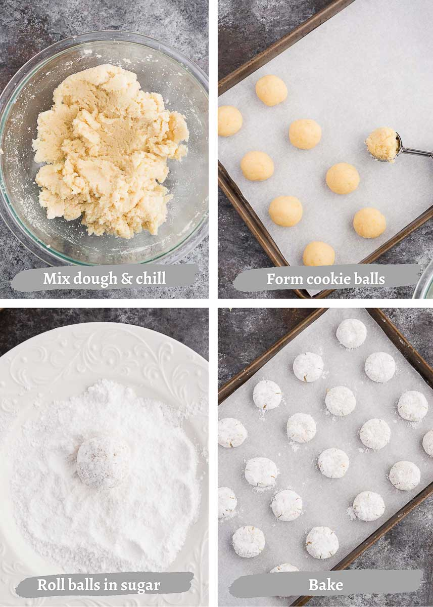 how to make Italian amaretti cookies - process shots 2
