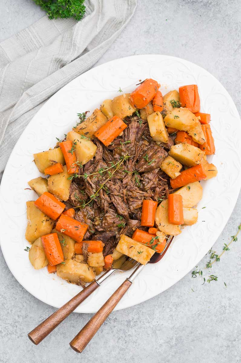 instant pot beef roast with vegetables