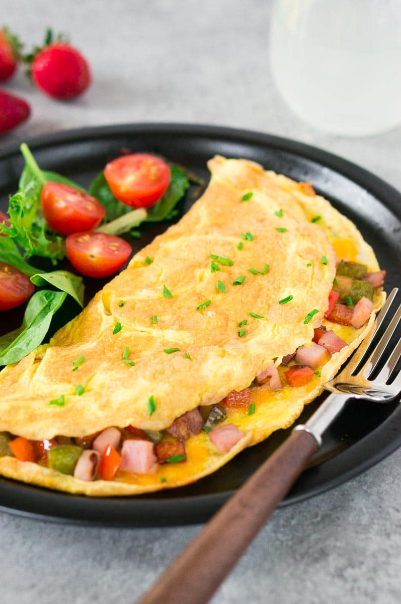 best recipe for omelet served on a plate