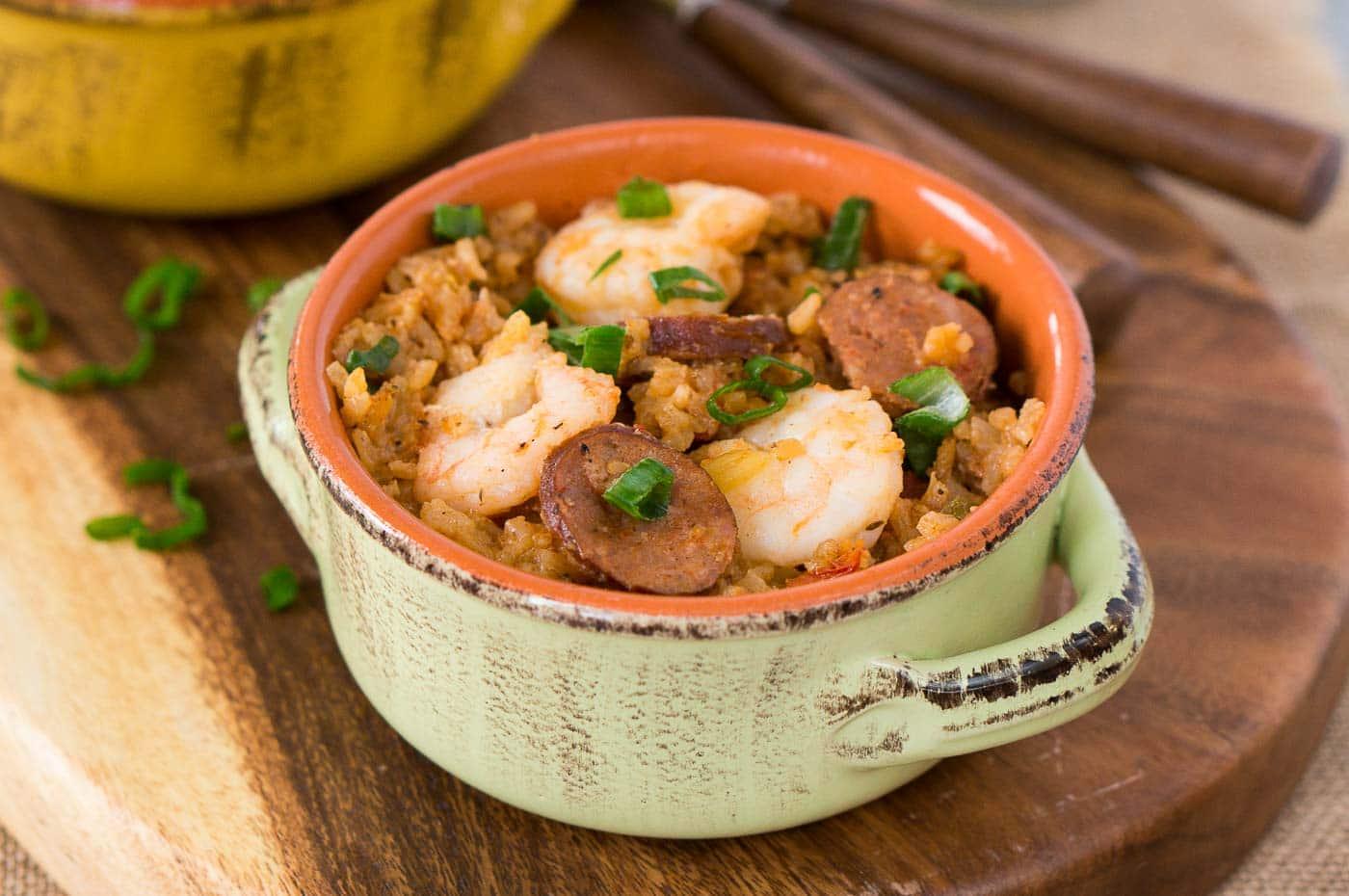 easy jambalaya recipe made in the pressure cooker