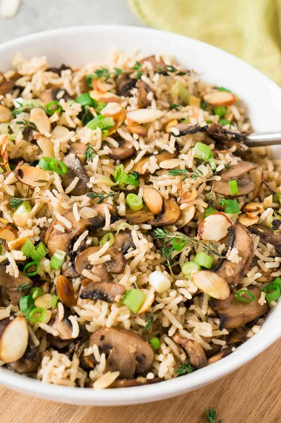 easy rice side dish with mushrooms