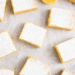 lemon dessert cut in squares