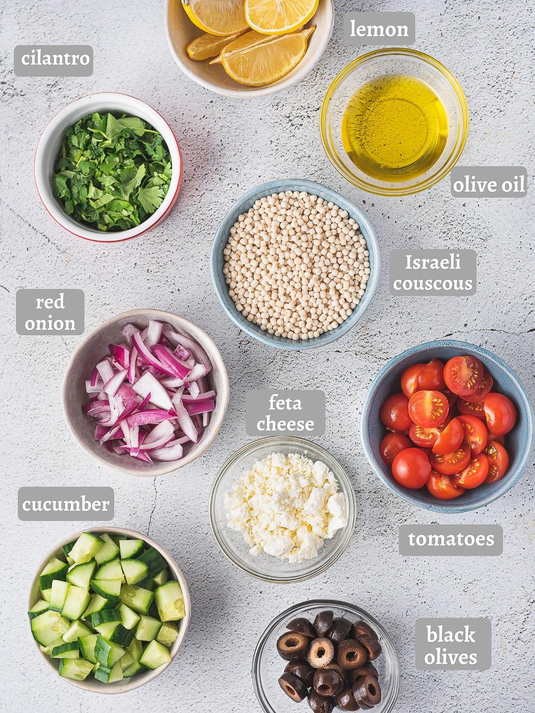 ingredients for mediterranean couscous